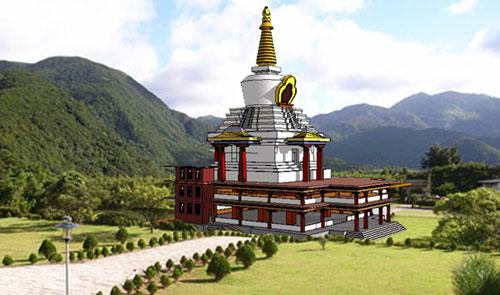 兴建舍利塔— 舍利塔为第二期整建工程之重要
